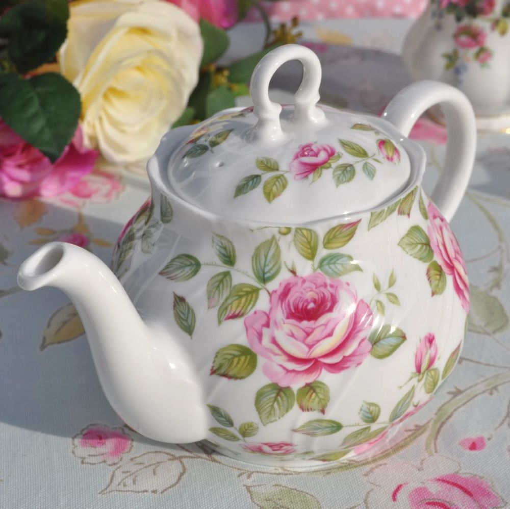 Queen S Cottage Garden Fine Bone China One Pint Teapot