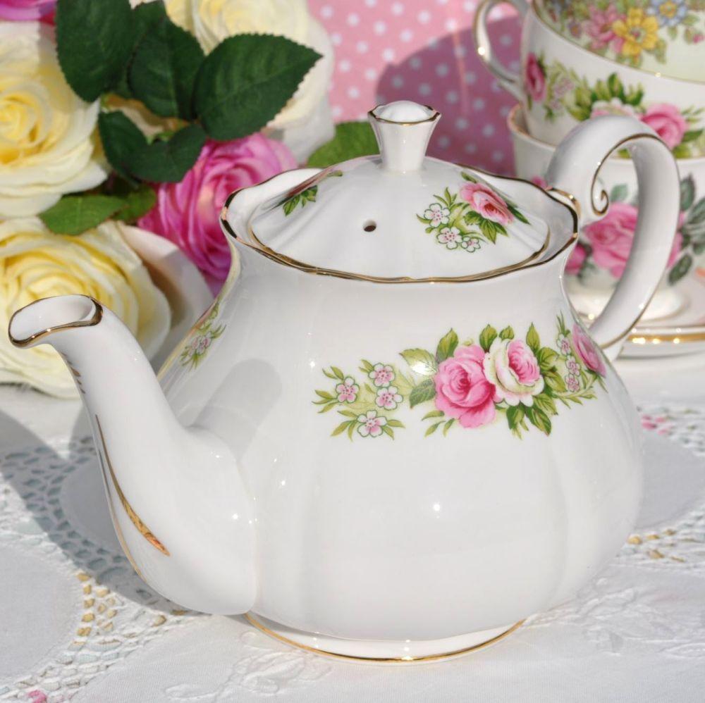 Colclough Enchantment Bone China 1.5 Pints Vintage Teapot