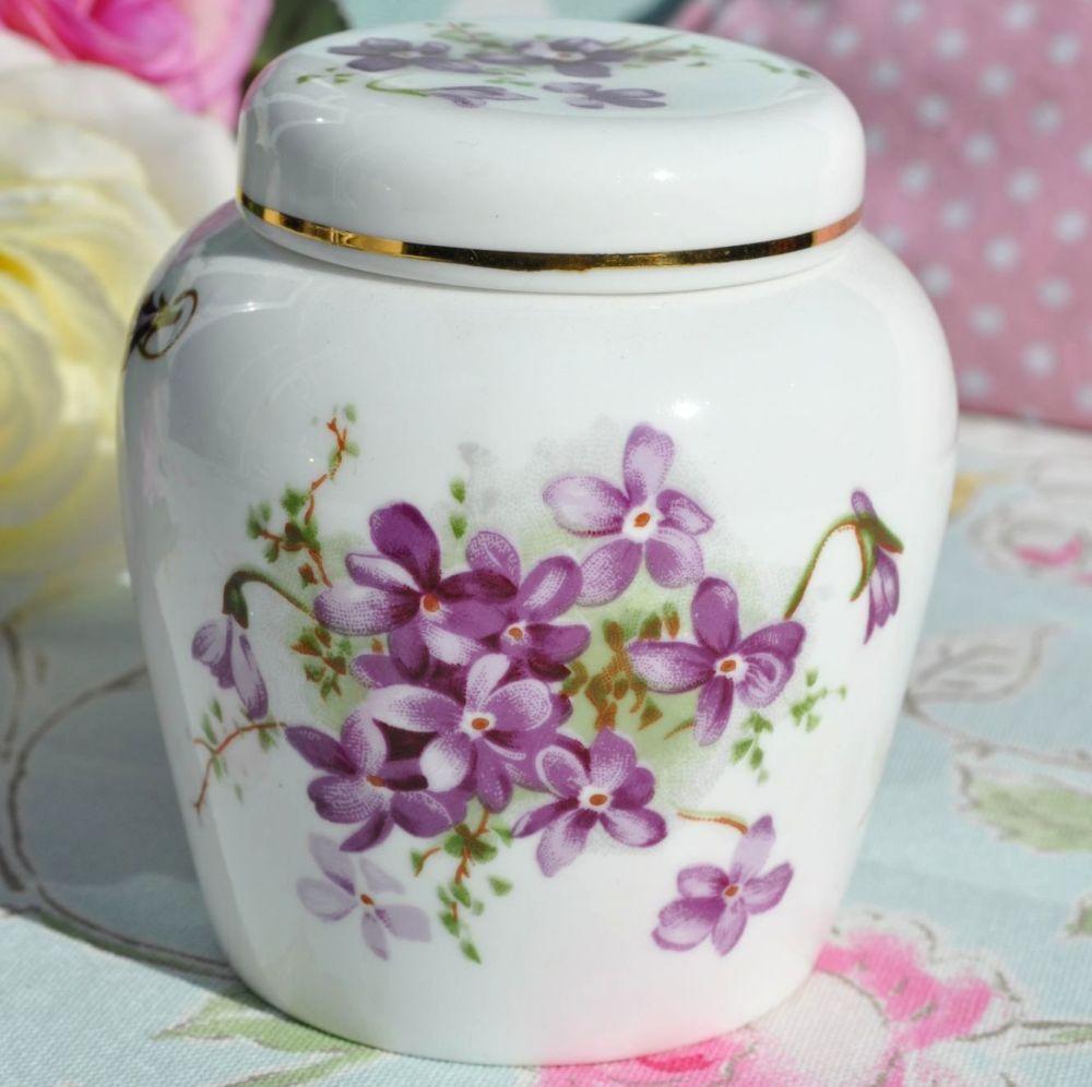 Hammersley Violets Vintage Bone China Ginger Jar