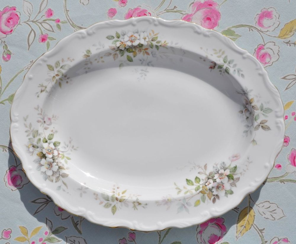 Royal Albert Haworth Vintage Bone China Oval Serving Platter