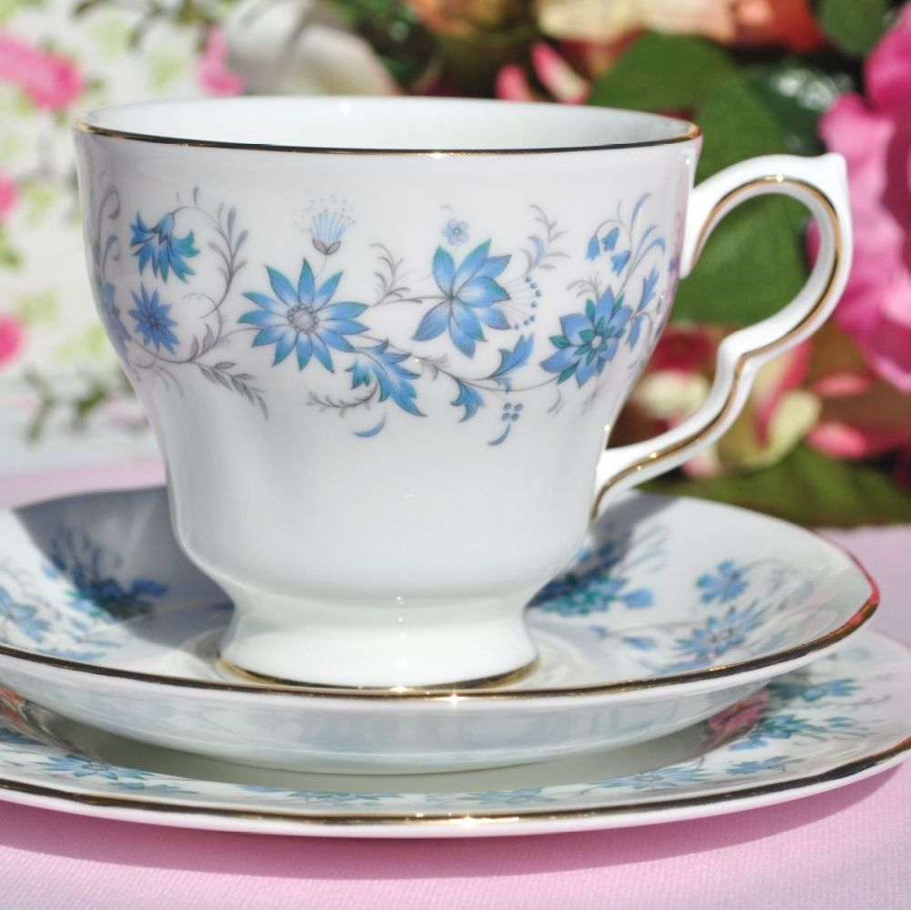 Colclough Braganza Vintage Bone China Tea Cup Trio