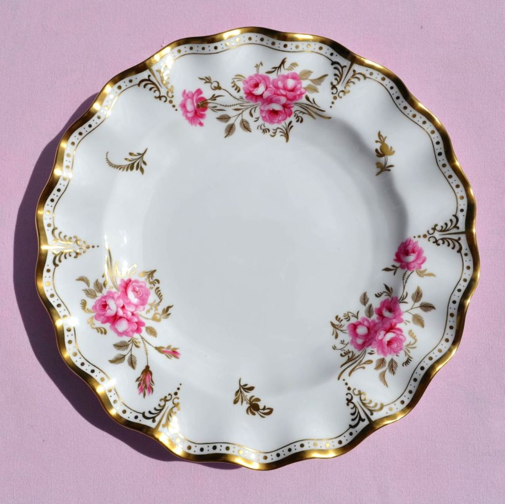 Royal Crown Derby Pinxton Roses A.1155 Frilly Rim 10