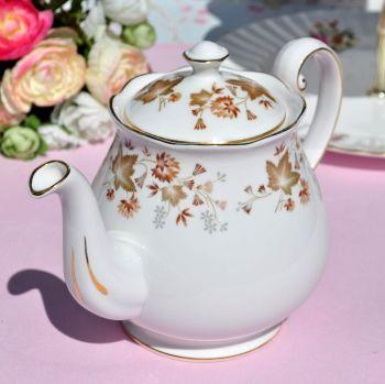 Colclough Avon Autumn Leaves Pattern Vintage China Teapot