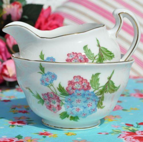 Royal Vale Hydrangea Milk Jug & Sugar Bowl