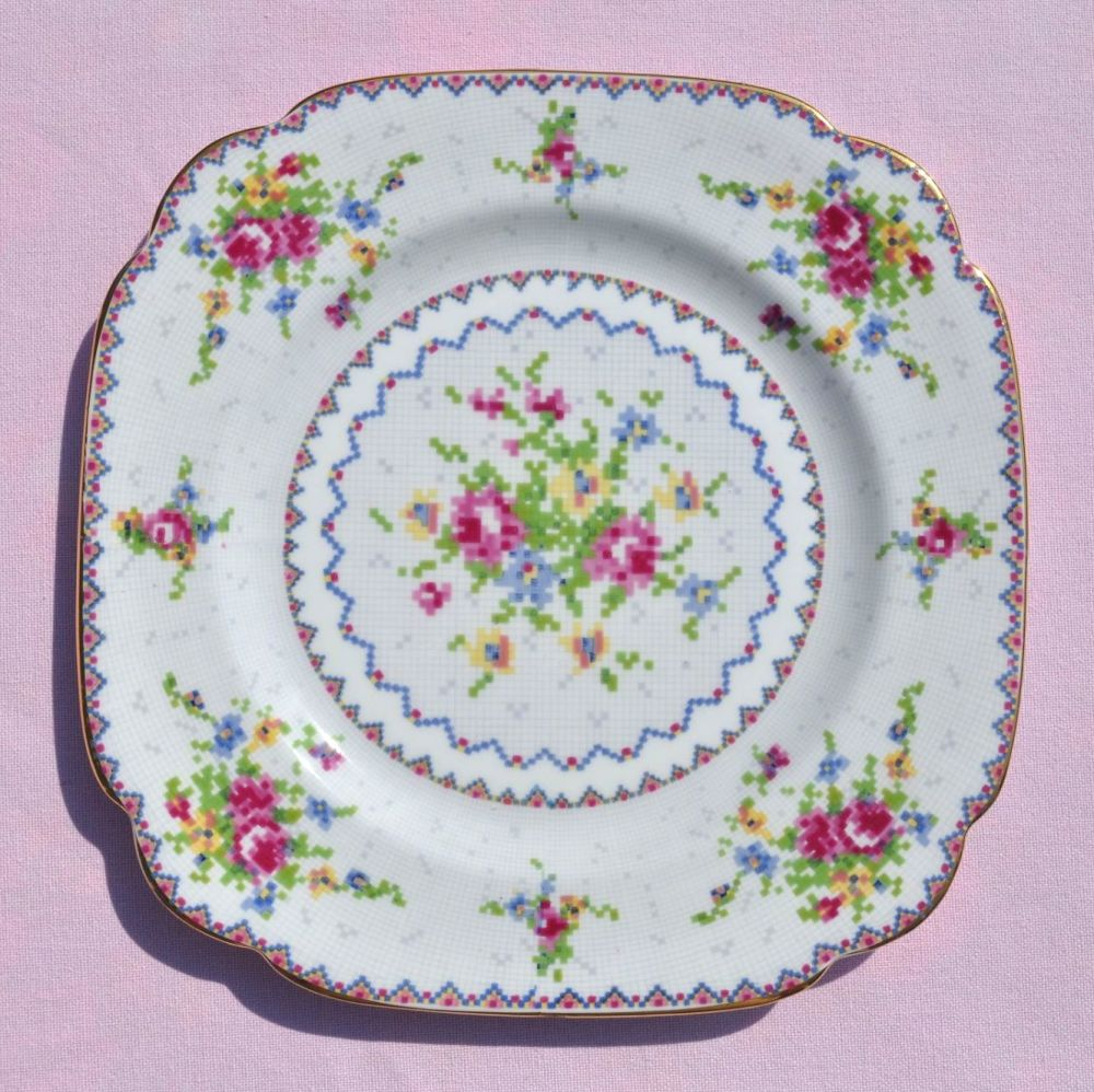 Royal Albert Petit Point Vintage Bone China 19.5cm Plate c.1930s