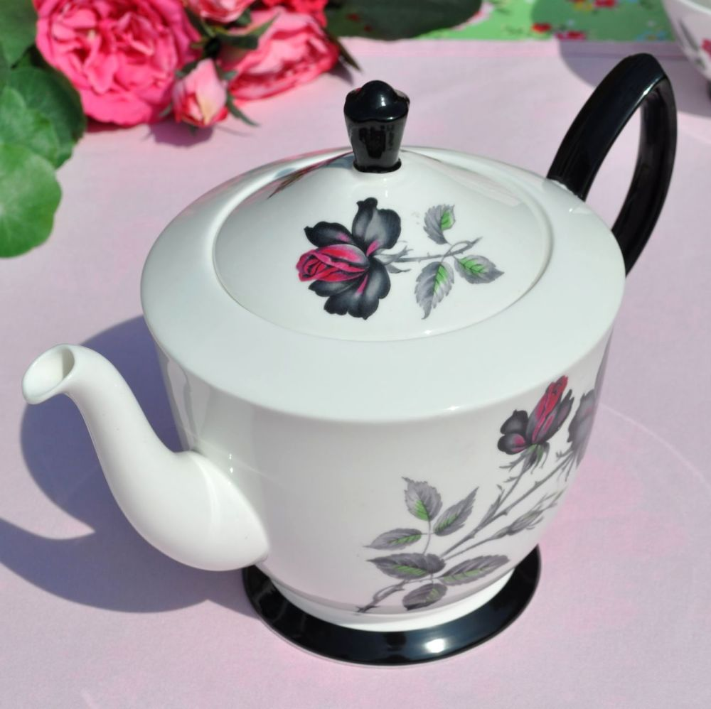Royal Albert Masquerade Large Vintage China Teapot c.1950's