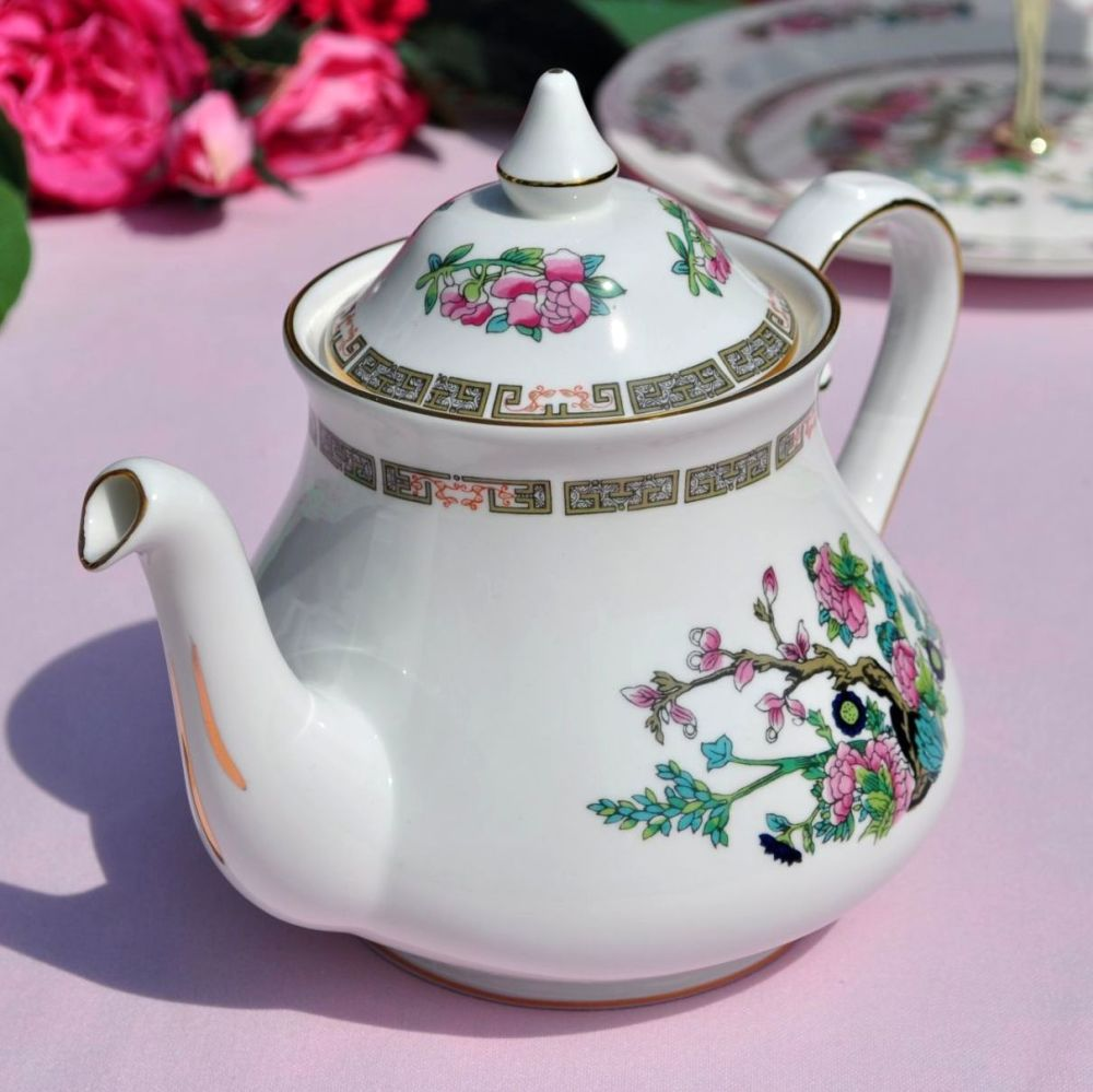 Regency Indian Tree Vintage Bone China Teapot