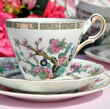 Regency Indian Tree Bone China Vintage Tea Cup Trio