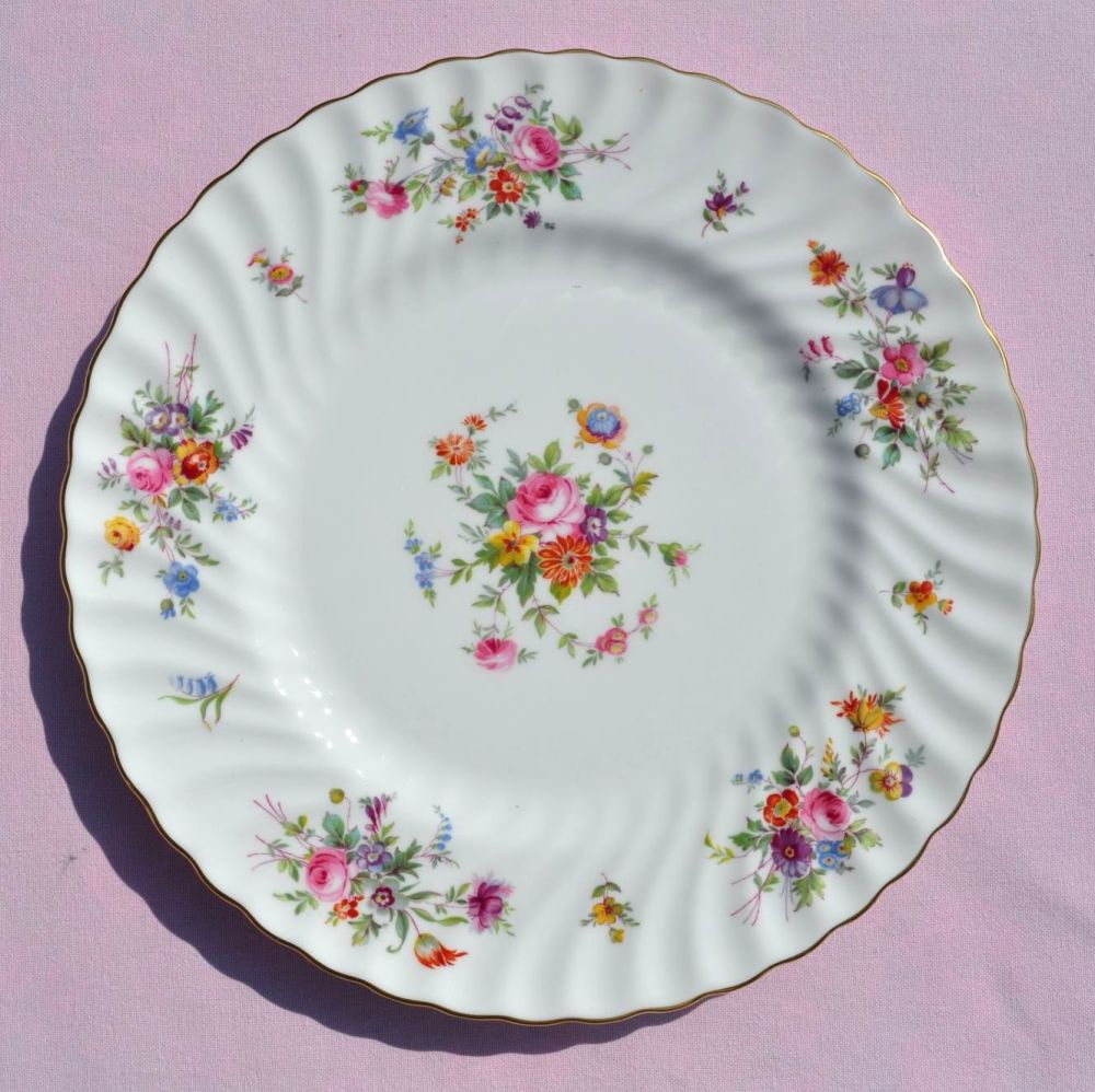 Minton Marlow Floral 27cm Bone China Dinner Plate c.1946