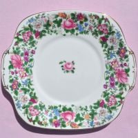 Crown Staffordshire Thousand Flowers Cake Plate c.1930+