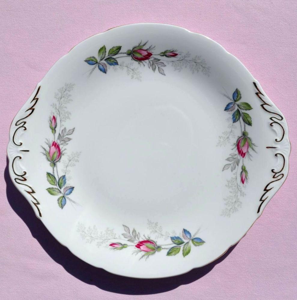 Paragon Bridal Rose Vintage Cake Plate c.1957+