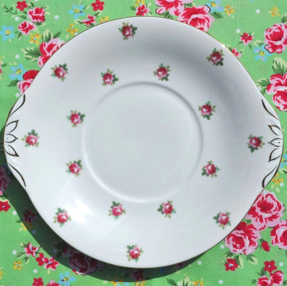 Adderley vintage fine bone china cake plate