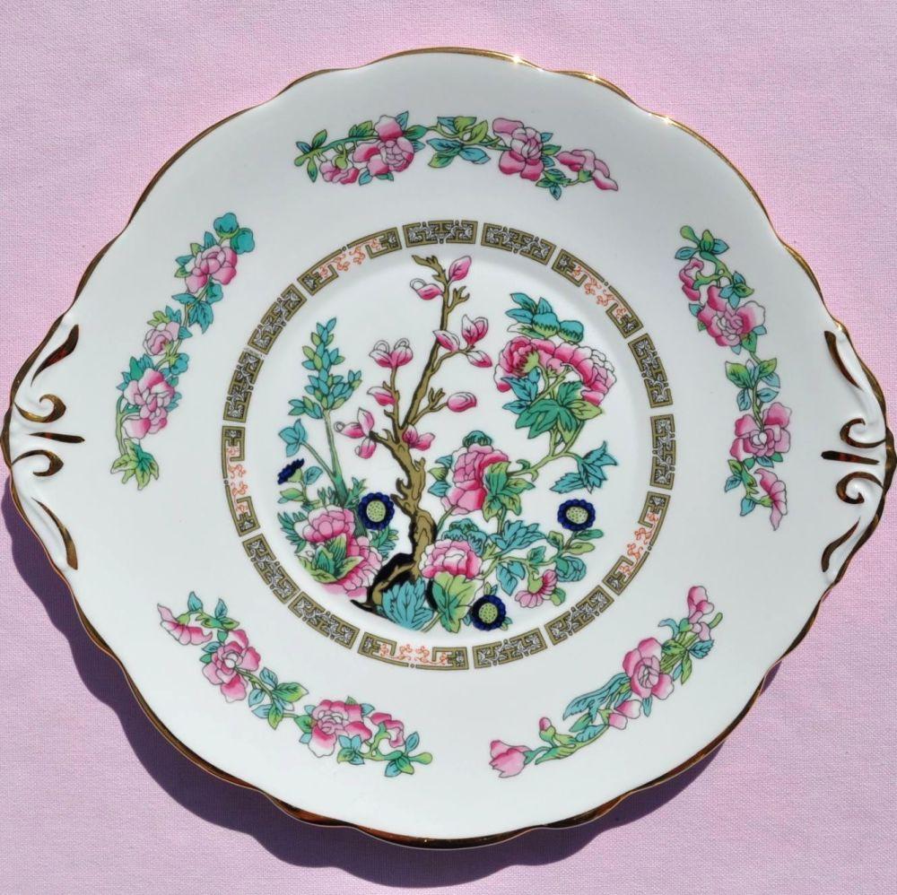 Regency Indian Tree Bone China Vintage Cake Plate