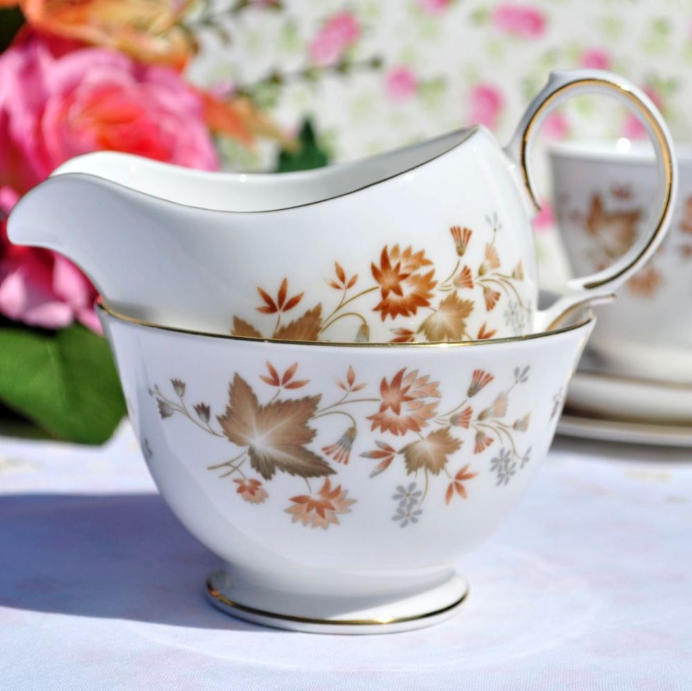 Colclough Avon Vintage China Milk Jug and Sugar Bowl