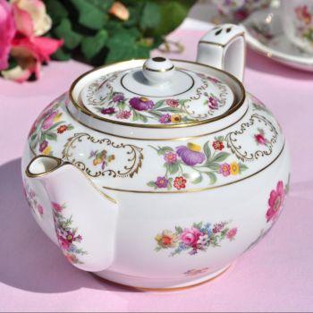 Hammersley Dresden Sprays Vintage Bone China 1.5 Pint Teapot