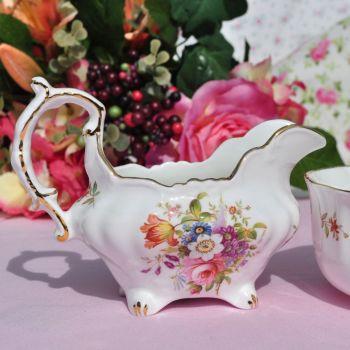 Hammersley Floral Vintage China Creamer and Sugar Bowl
