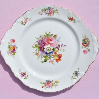 Hammersley Floral Vintage China Cake or Sandwich Serving Plate
