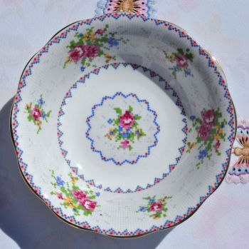Royal Albert Petit Point Dessert Dish c.1930s