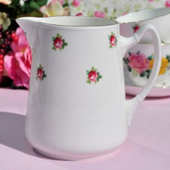 Adderley Ditsy Pink Roses Vintage China One Pint Jug c.1950s
