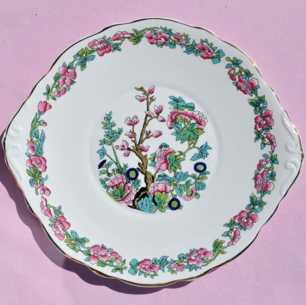 Argyle Indian Tree Vintage Bone China Cake Serving Plate