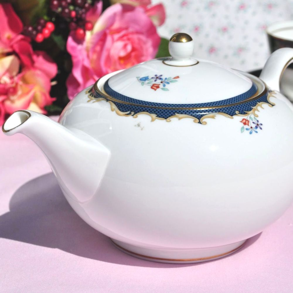 Wedgwood Chartley Pattern Vintage Bone China Teapot