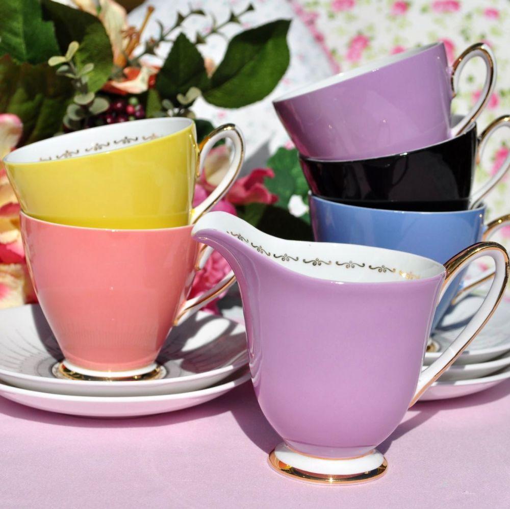Windsor Zodiac Retro Harlequin Colours Part Tea Set