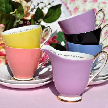 Windsor Zodiac Retro Harlequin Colours Part Tea Set