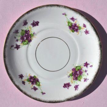 Phoenix Violets Pattern Cake Plate c.1940s