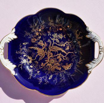 Coalport Cobalt Blue & Gold Vintage Bone China Biscuit Tray