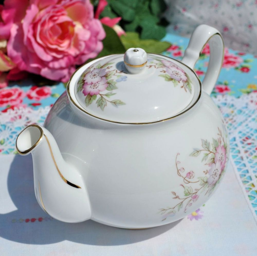 Duchess Pink Blossom Bone China Vintage 2 Pint Teapot