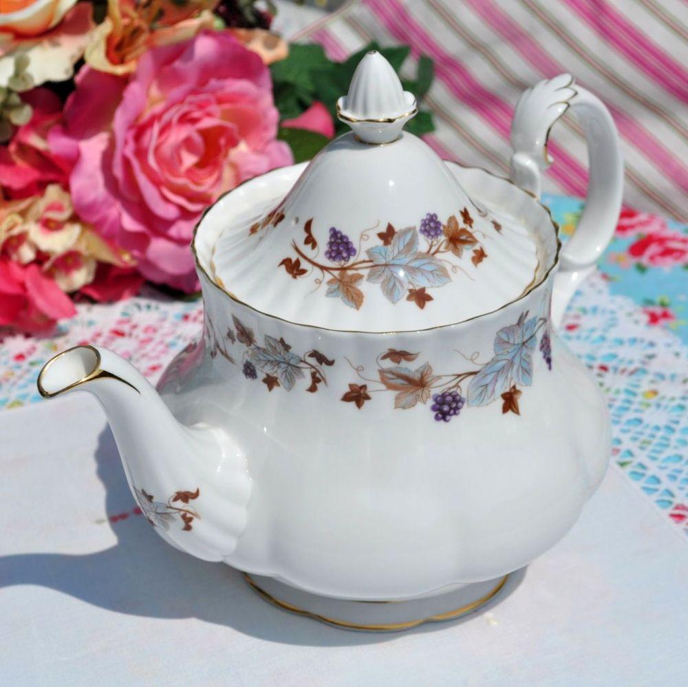 Royal Albert Lorraine Bone China Large Vintage Teapot