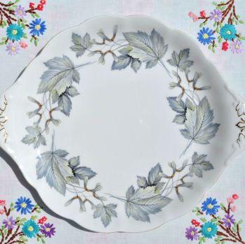 Royal Albert Silver Maple Cake Plate c.1960s