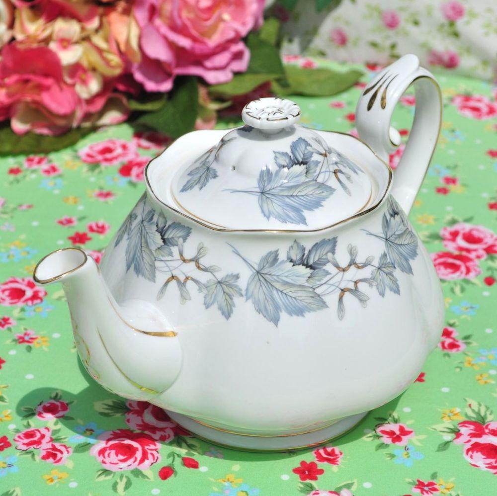 Royal Albert Silver Maple Vintage China 1.25 Pint Teapot c.1960s
