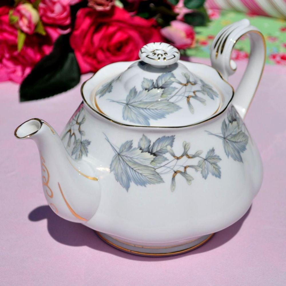 Royal Albert Silver Maple Vintage China 2 Pint Teapot c.1960s