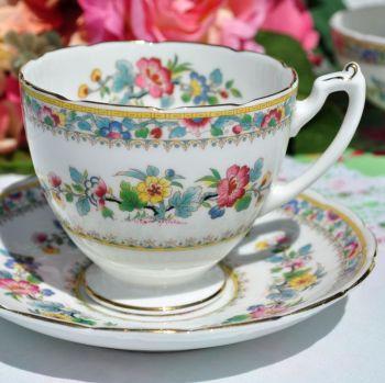 Coalport - Foley Ming Rose Vintage Breakfast Teacup & Saucer c.1948-63