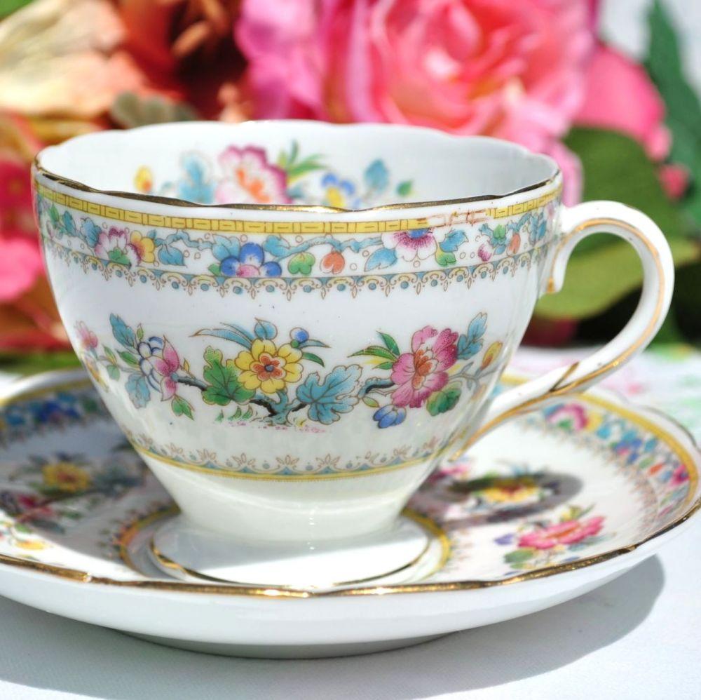 Foley Ming Rose Vintage 1930s China 6 fl.oz. Teacup and Saucer