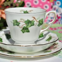 Colclough Ivy Leaf China Teacup Trio c.1960s