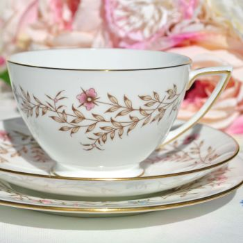 Minton Spring Melody Hand Enamelled Teacup Trio