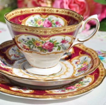 Royal Albert Lady Hamilton Teacup Trio
