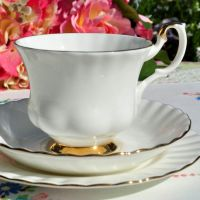 Royal Albert Val D'or Vintage Teacup Trio c.1962
