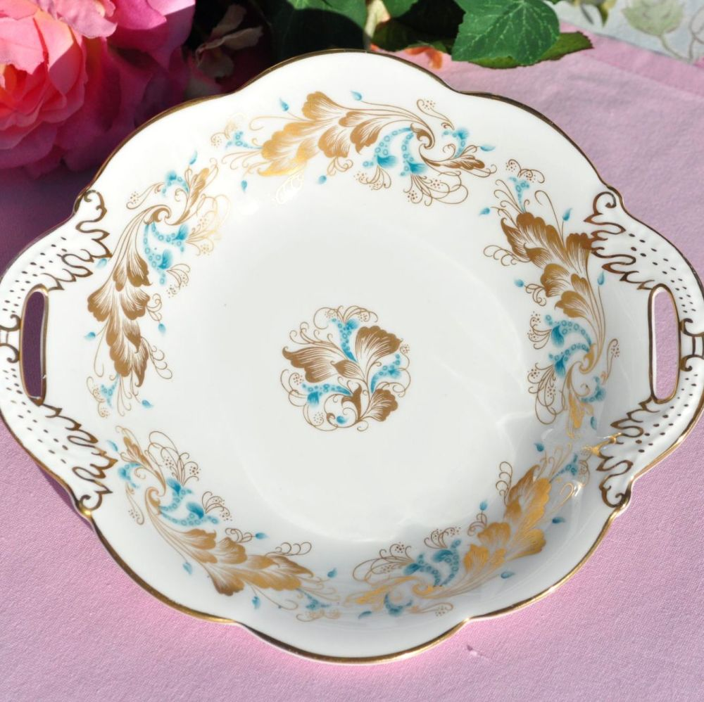 Coalport Strange Orchid Bone China Handled Biscuit Tray