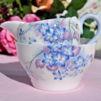 Shelley Blue Spray Milk Jug and Sugar Bowl c.1930s