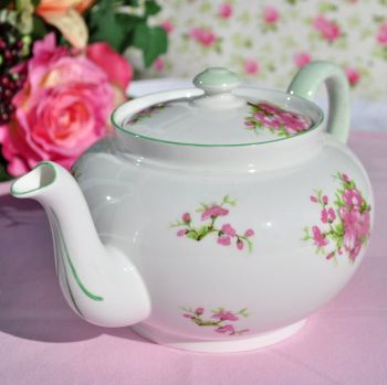 Shelley Cherry Blossom Pattern Fine China One Litre Teapot 1930s