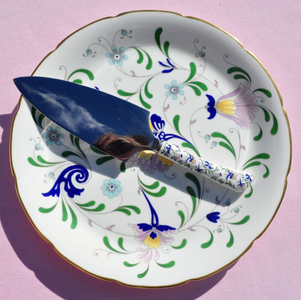 Coalport Pageant Bone China Cake Plate (and Cake Slice)