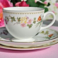 Wedgwood Mirabelle R4537 Bone China Tea Cup, Saucer and Tea Plate