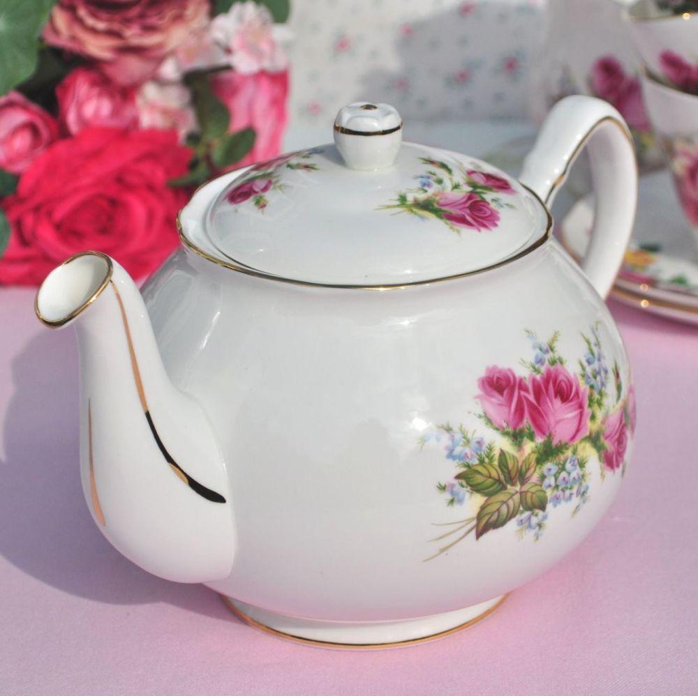 Duchess Velvet Rose Vintage Bone China Teapot 1.5 Pints