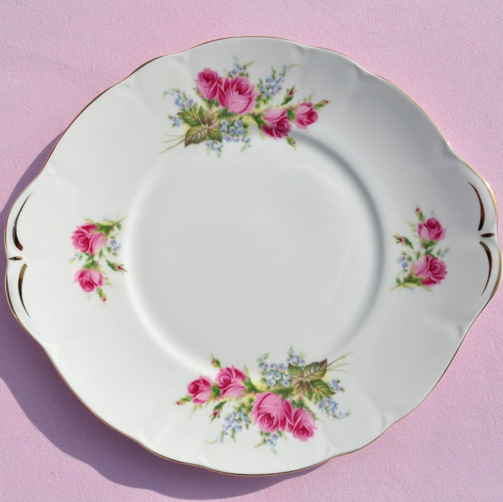 Duchess China Velvet Rose Vintage Cake Plate c.1950s