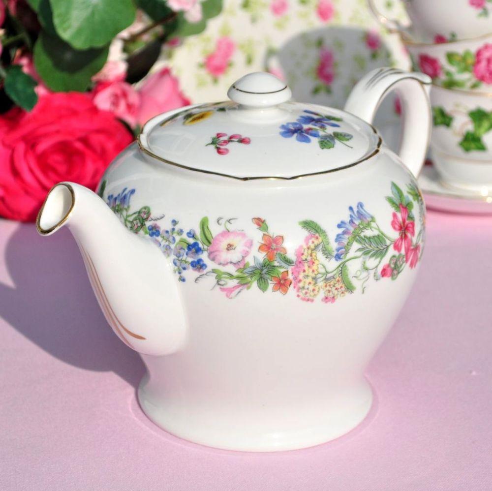 Shelley Hedgerow Vintage Fine Bone China Teapot c.1950s