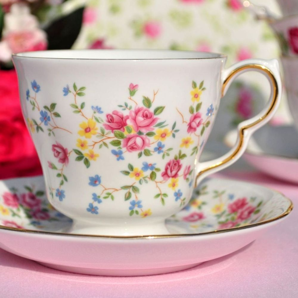 Queen Anne vintage teacup and saucer