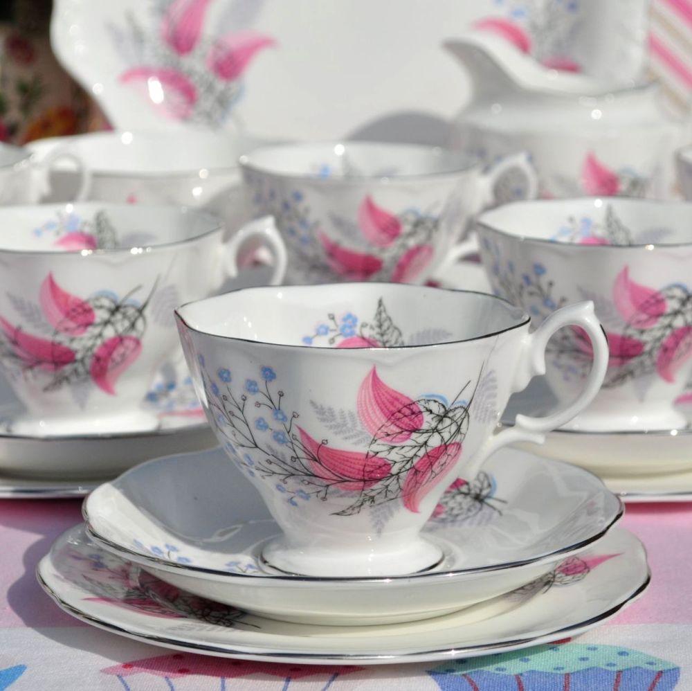 Royal Albert Fancy Free Vintage Bone China Tea Set c.1950s